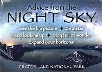 Your True Nature Magnet- Advice from the Night Sky Crater Lake