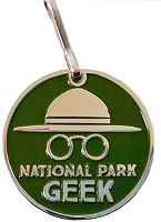 National Park Geek - Zipper Pull or Charm
