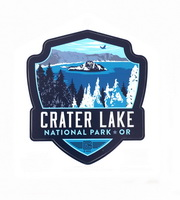 59 Illustrated Crater Lake Sticker