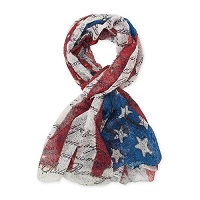 Scarf American Flag and US Constitution