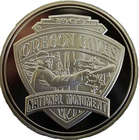 Coin - Double Sided Silver-Plated Oregon Caves