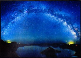 Milky Way Over Crater Lake Photo Canvas