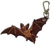 Embroidered Bat Key Chain Clip