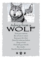 Greeting Card Advice from a Wolf