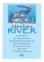 Your True Nature Greeting Card Advice from a River