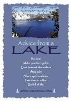 Your True Nature Greeting Card Advice from a Lake