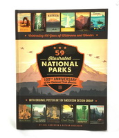 59 Illustrated National Parks: 100th Anniversary of the National Park Service