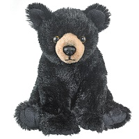Small Black Bear Plush