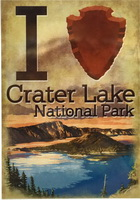Sticker I heart Crater Lake