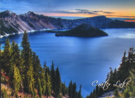 Magnet Sunrise Over Crater Lake