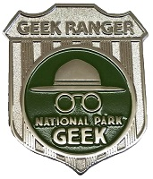 National Park Geek - Badge Lapel Pin