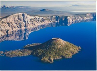 Crater Lake from Above Matted Print