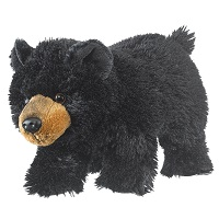 Small Black Bear Plush Standing