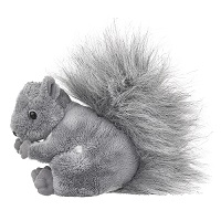 Small Gray Squirrel Plush
