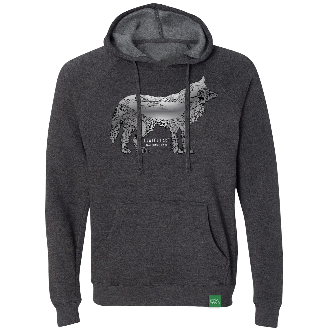 Pullover- Hoody Wolf Lake