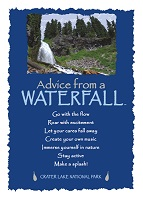 Your True Nature Greeting Card Advice from a Waterfall