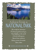 Your True Nature Greeting Card Advice from Crater Lake National Park