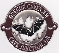 Hiking Stick Medallion- Oregon Caves Bat in Cave