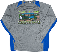 Concept 360 T-Shirt Blue Athletic Wear Take a Hike Long Sleeve